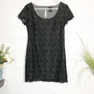 Aritzia Talula Black Lace Mini Dress